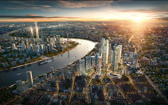 """北外滩与陆家嘴、外滩构成上海核心区域""""黄金三角"""""""