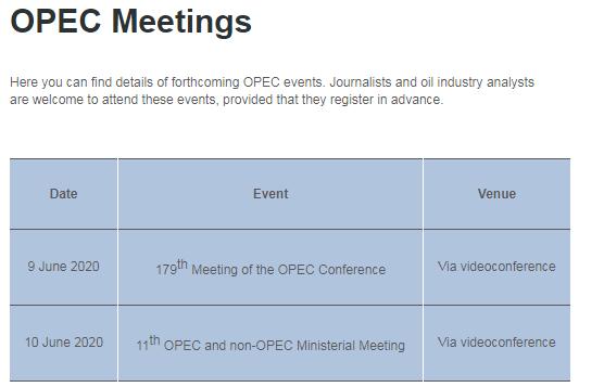 欧佩克暂未调整会议计划
