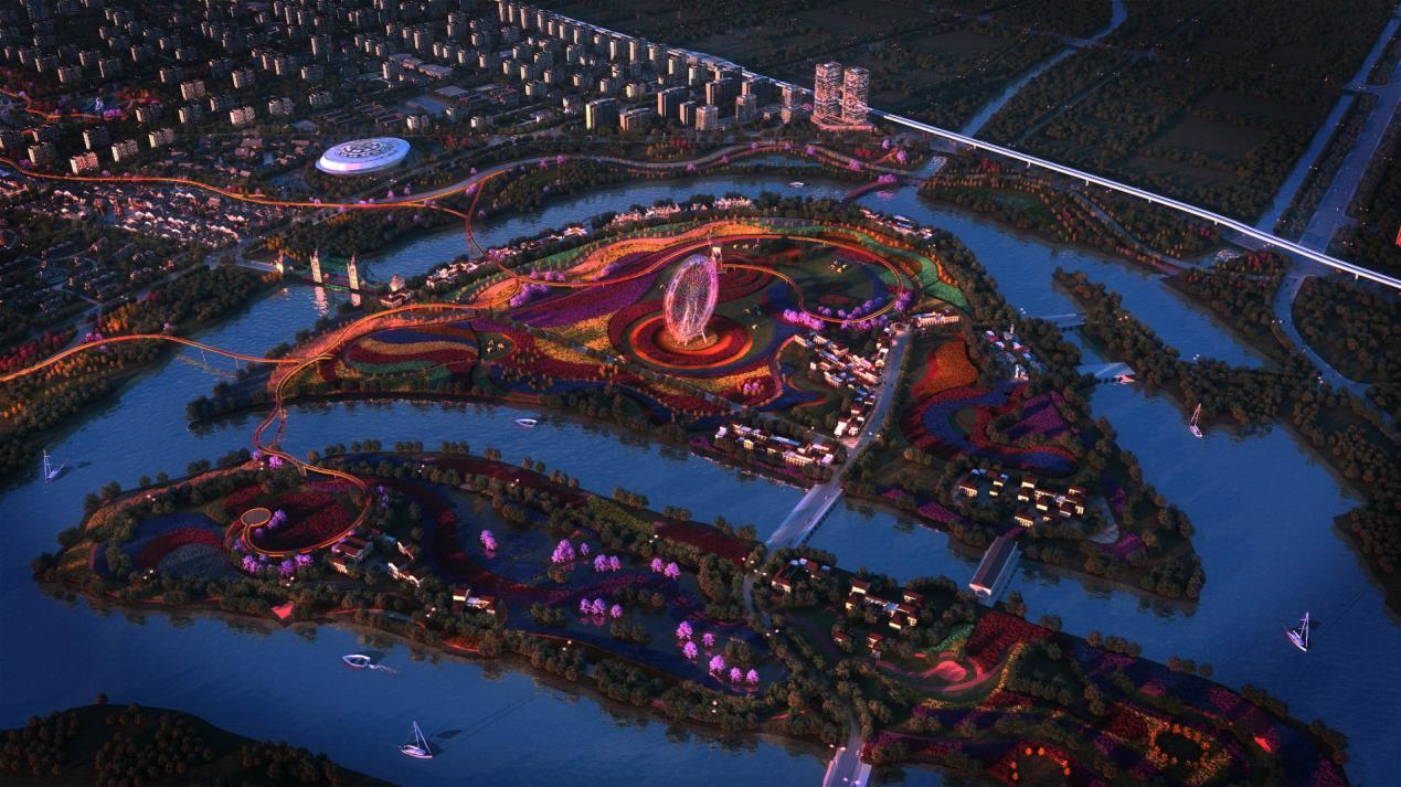 美好置业洪湖新滩美好未来新城PPP项目(一期)9.33平方公里的核心配套区正在建设中