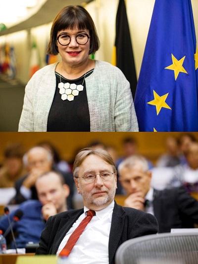 上图为欧盟贸易总司司长韦恩德,下图为欧洲议会国际贸易委员会主席朗耶   来源:欧盟网站