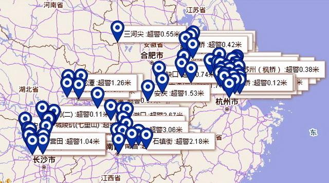 众地河流已超警水位 原料来源:中国气象局