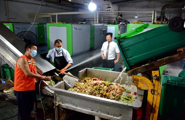 位于浦江县桐坞岭的城区厨余垃圾处理中心。摄影/章轲