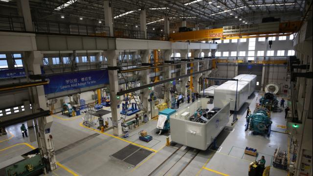 通用电气(GE)低风速机组生产线