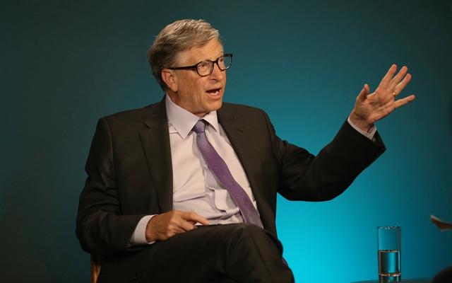 比尔·盖茨的财富排名依然稳居第二。新华社资料图