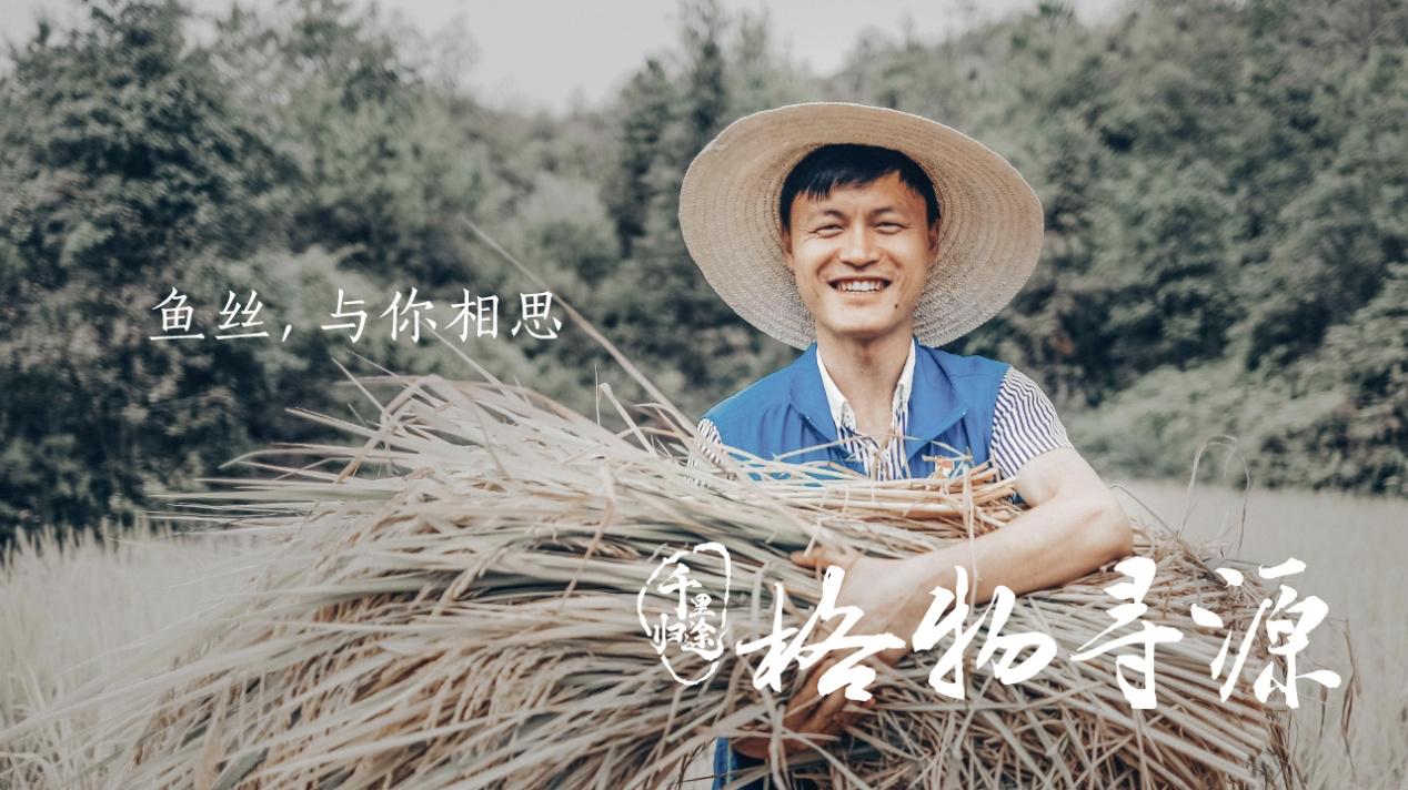 方军在和平村帮着村民收割稻谷。
