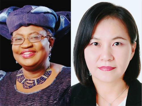 新一任WTO总干事将在奥孔乔-伊韦阿拉(左)与俞明希之间产生