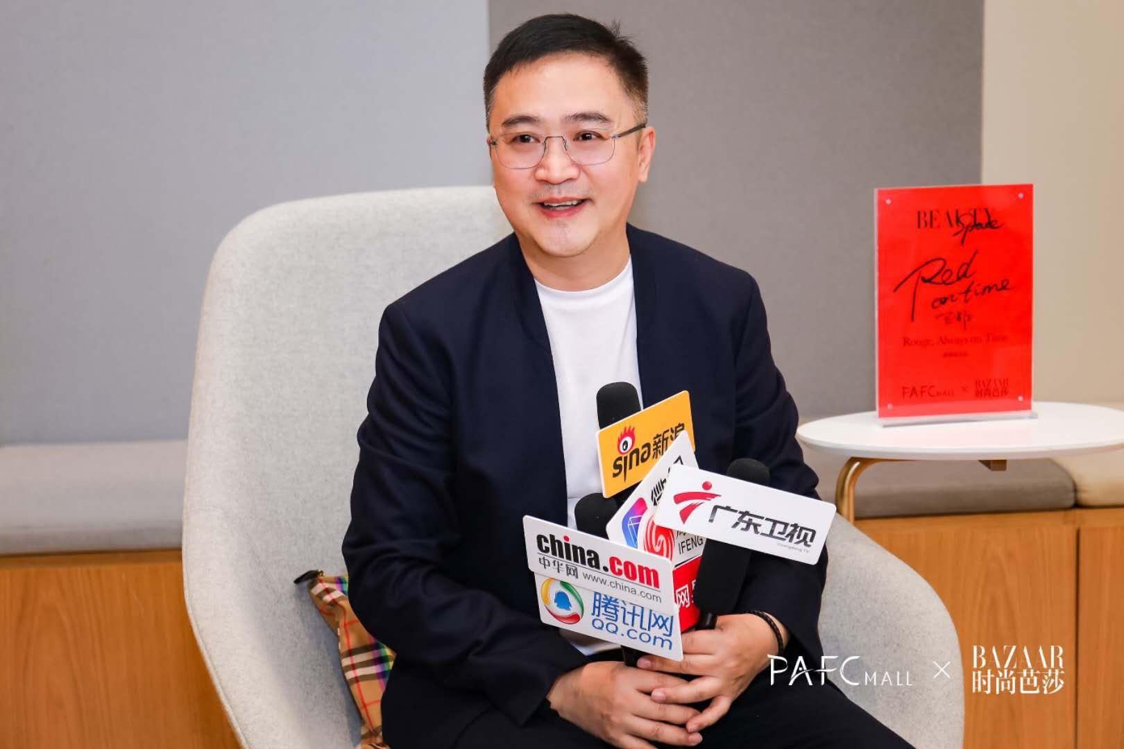 图为 坦然不动产商场管理董事总经理王云松老师