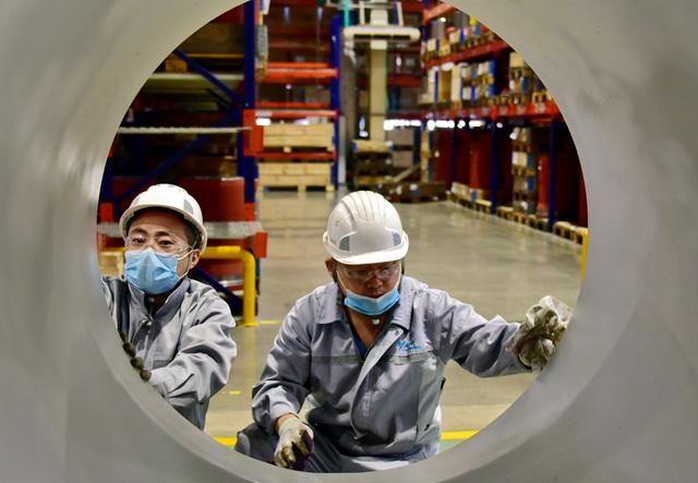 赛莱默沈阳工厂生产车间。摄影/章轲