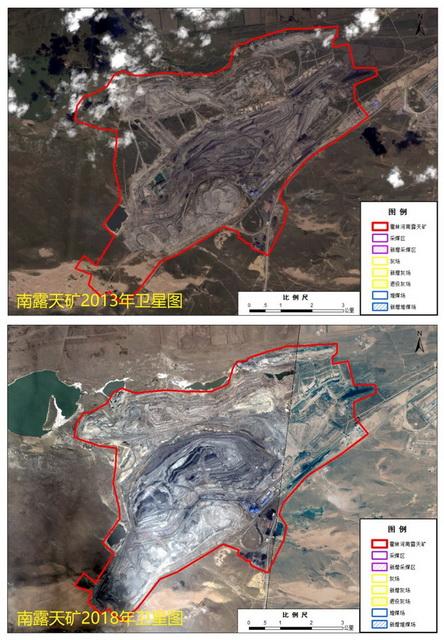 2013年以来霍林河露天煤矿(南矿)占用、损毁草原面积迅速扩大。资料来源:中央生态环境保护督察办公室