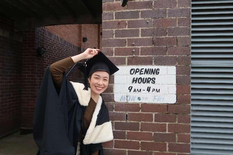 他塔拉在悉尼大学找到向往的性别研究专业,成为该专业唯一一位中国学生   受访者供图