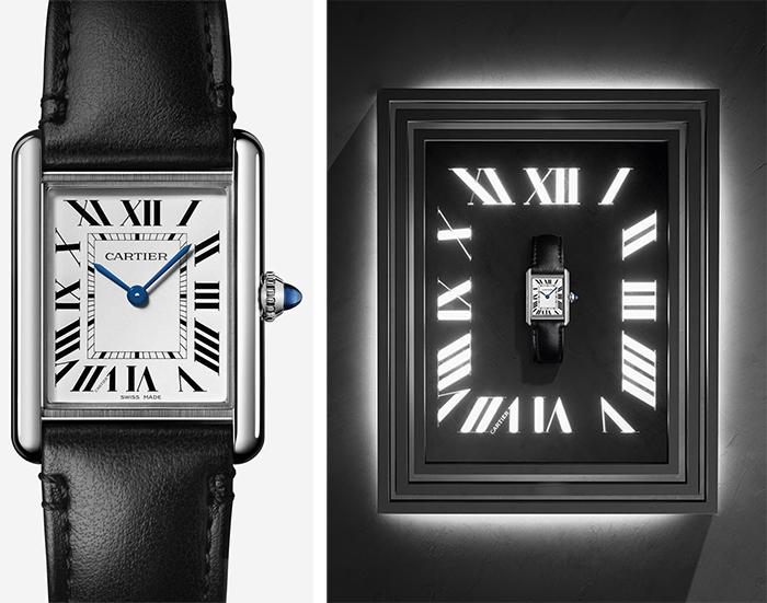 卡地亚TANK MUST腕表,运用太阳能表盘和非动物性材质表带