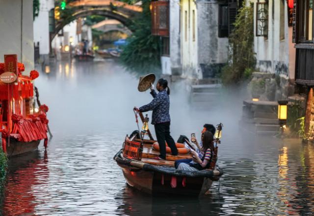 江苏省苏州市昆山市周庄镇一景(2020年5月19日摄)。新华社图。