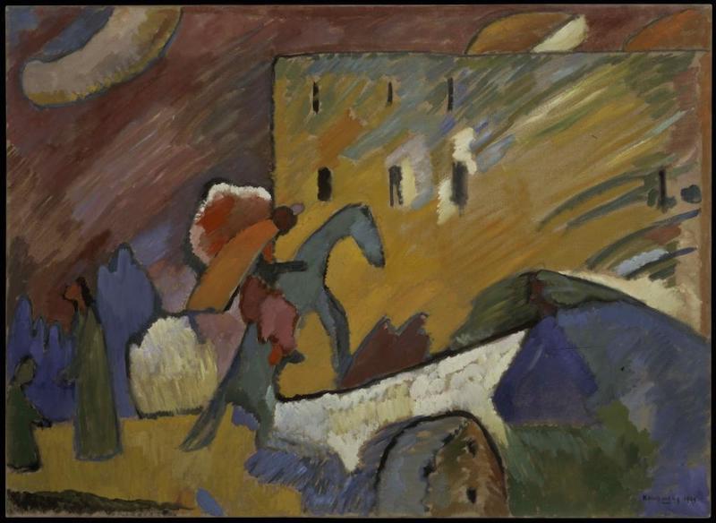 瓦西里·康定斯基,《即兴III》,1909年