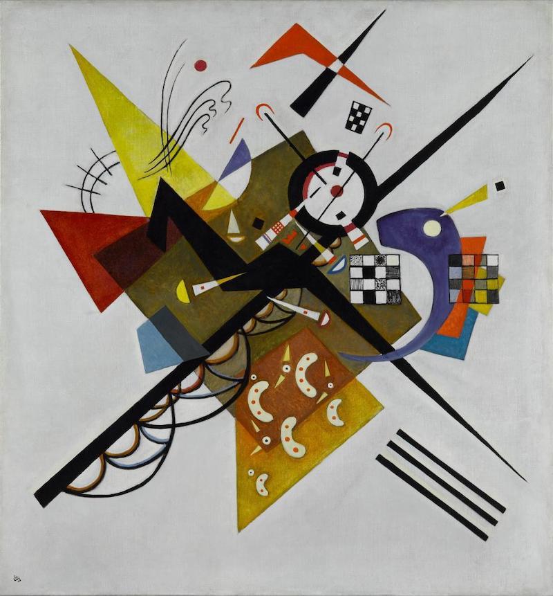 瓦西里·康定斯基,《白色之上II》,1923年,布面油画