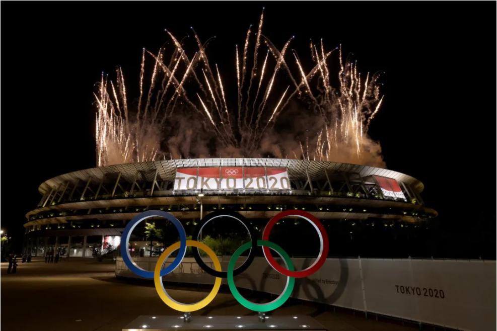 △ 第 32 届夏季奥运会终于在东京开幕。图片来源   Twitter @Tokyo2020