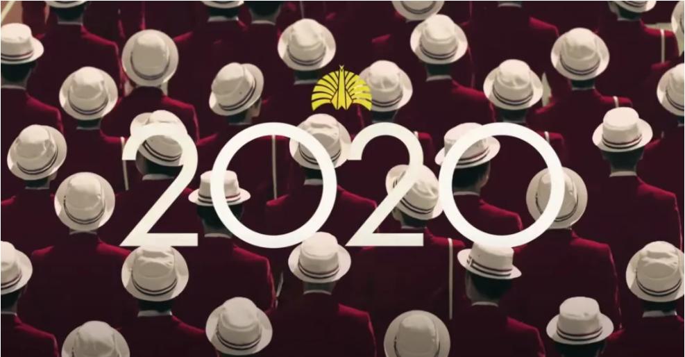 """△ 2019 年 12 月 31 日,""""东京 8 分钟""""音乐导演椎名林檎宣布将重启 2012 年终止活动的乐队""""东京事变"""",并发布了一支名为""""播放""""(日语:再生)的视频,视频中的各种元素明显在致敬 1964 年东京奥运会。另外,东京事变至今发布的单曲,标题提及的颜色恰好可以凑出奥运五环(蓝、黄、黑、绿、红)。图片来源   YouTube @東京事変"""