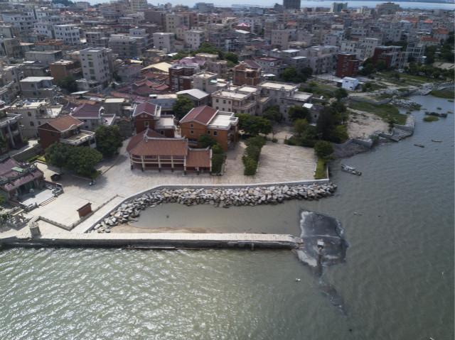 泉州石狮石湖码头古渡口(无人机照片,7月7日摄)。新华社图。