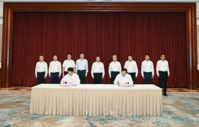 8月24日,中国船舶集团有限公司与上海市人民政府在上海签署合作协议。来源:中国船舶集团官网