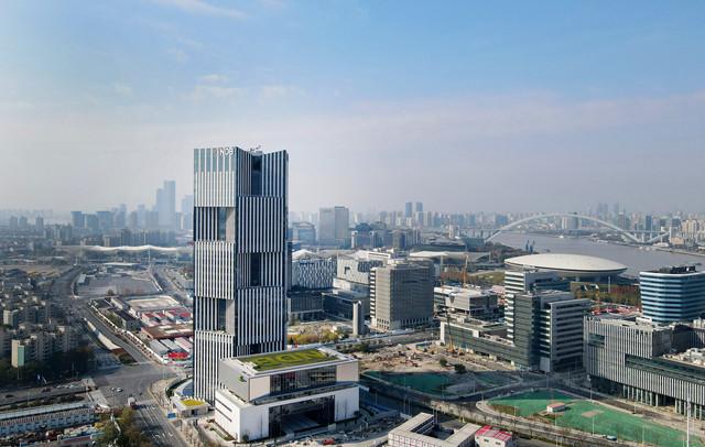 位于上海世博园区的新开发银行总部大楼(新华社图)