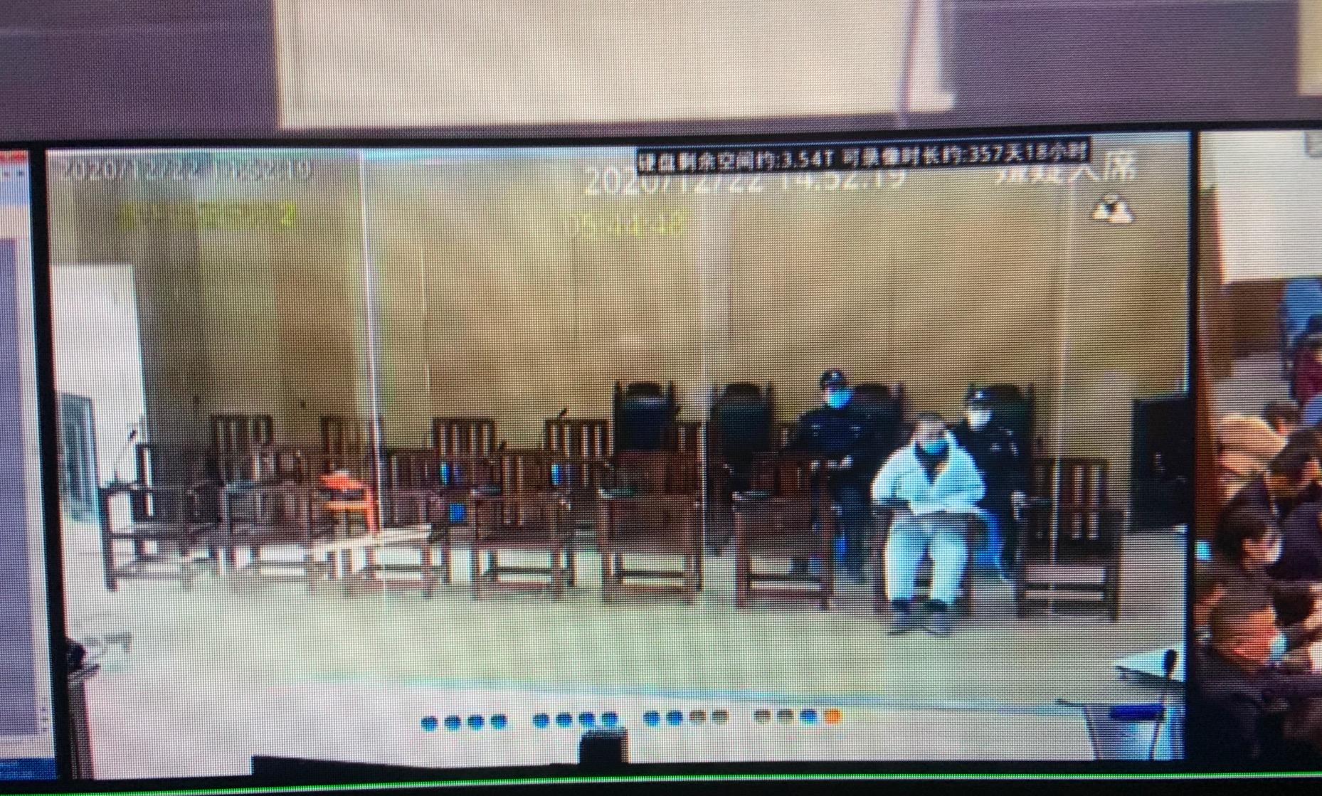 庭审中的吴承泽,第一财经记者摄于2020年12月