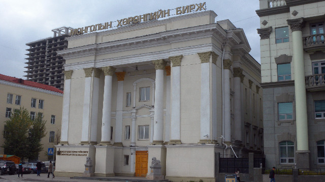 乌兰巴托证券交易所(第一财经记者 钱小岩摄)