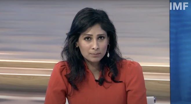 IMF首席经济学家吉塔·戈皮纳特(Gita Gopinath)