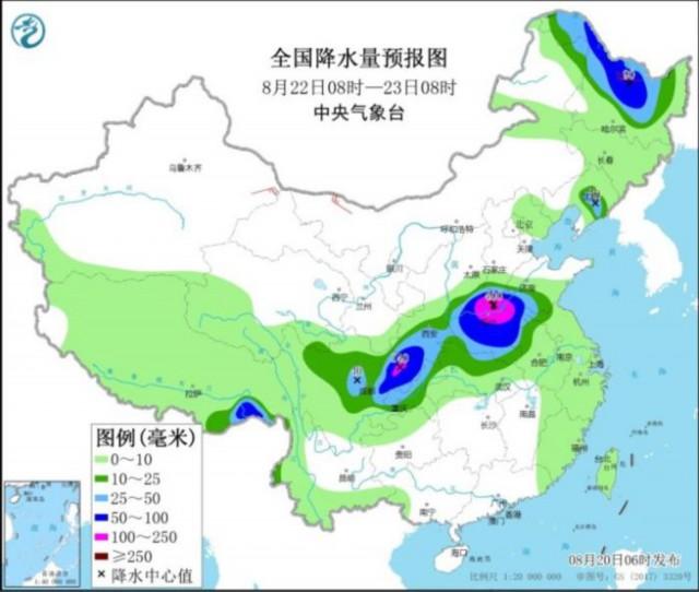 全国降雨量预报图