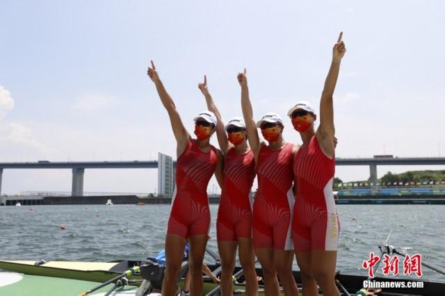 中国队在东京奥运会创下的6分05秒13,创下了世界最好成绩。<a target='_blank'  data-cke-saved-href='http://www.chinanews.com/' href='http://www.chinanews.com/'><p  align=