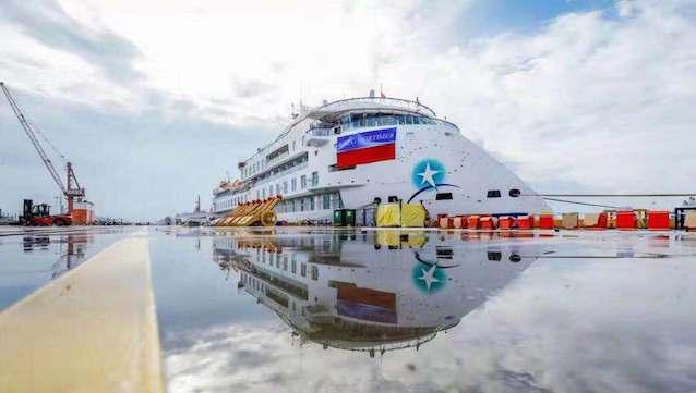 """""""去南极!首艘中国造极地探险邮轮交付,票价7.5万元已售罄"""